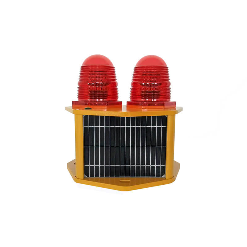 Solar Aviation Obstruction Light Low-intensity Type B Double LED ICAO Certified CS-810/T