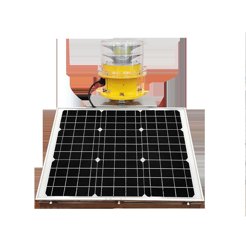 Solar Double Obstruction Light Medium-intensity Type B/C LED ICAO Certified CS-864/T